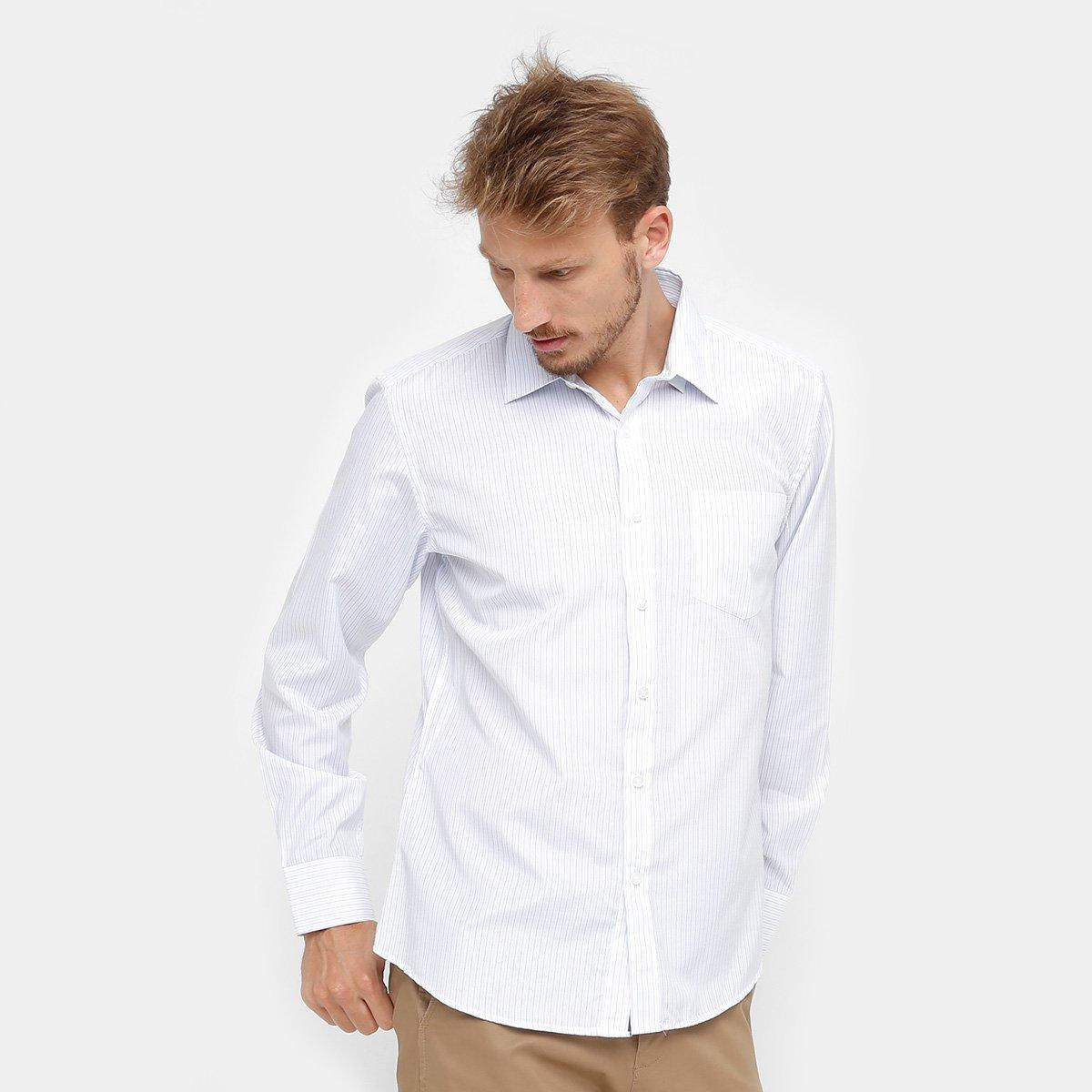 cbb288d55b Camisa Social Blue Bay Listras Bolso Masculina - Compre Agora