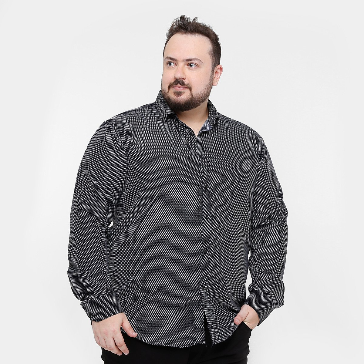 Camisa Social Broken Rules Plus Size Mini Print Masculina - Compre Agora  8a7c8bf6045
