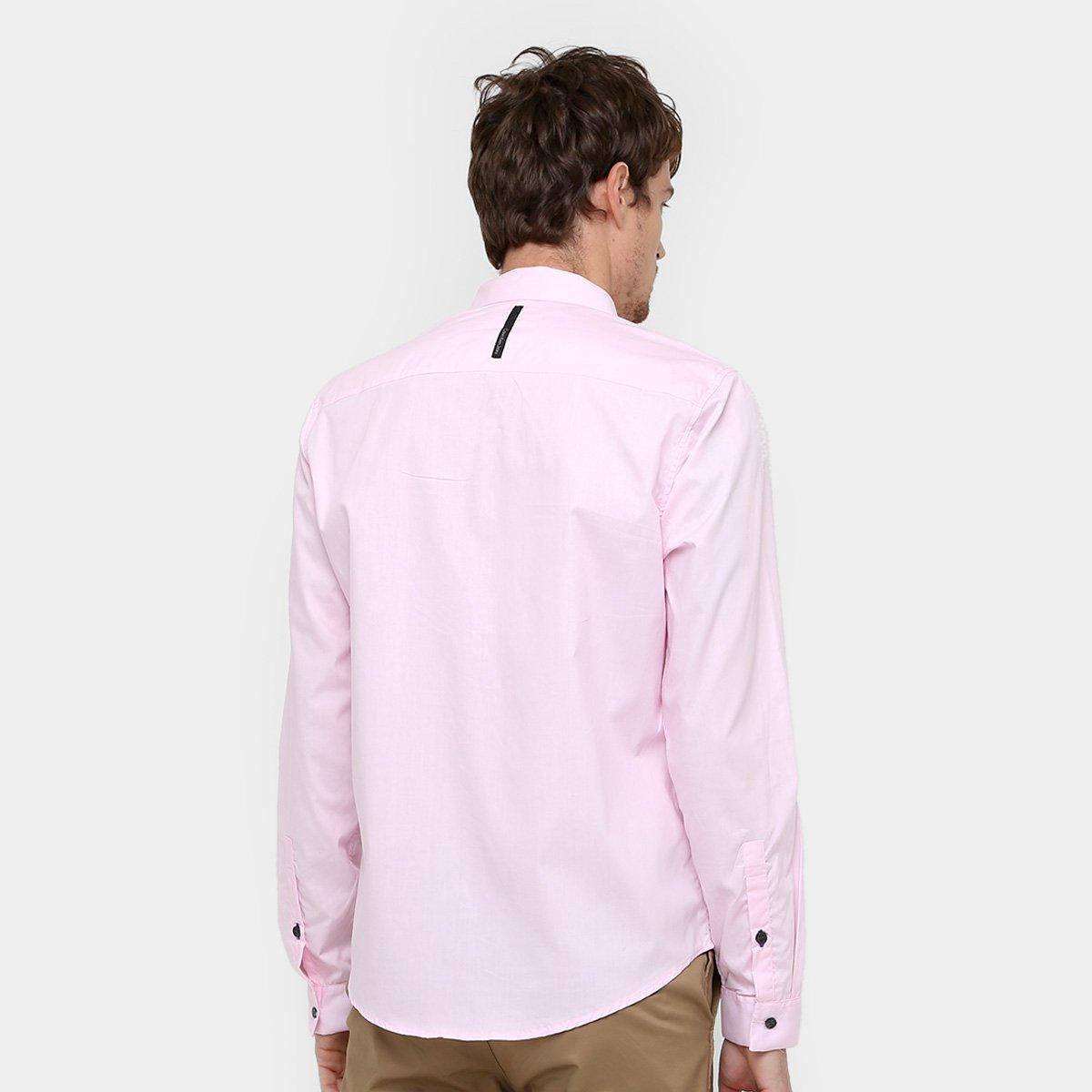 Camisa Social Calvin Klein Slim Fit Manga Longa Masculina - Compre ... 58c3ca060e
