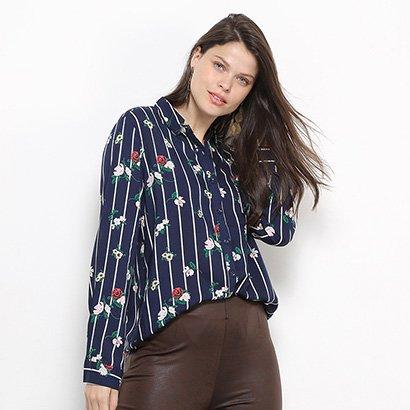 Camisa Social Facinelli Floral Feminina