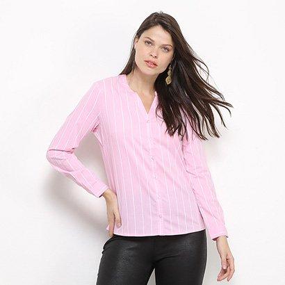 Camisa Social Facinelli Listras Feminina