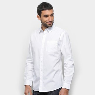 Camisa Social Hering Manga Longa Bolso Masculina