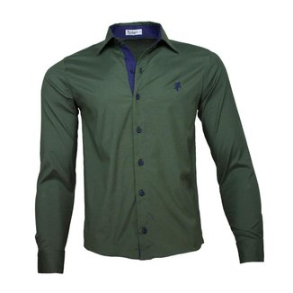 Camisa Social Kelvy's Camisas Masculina