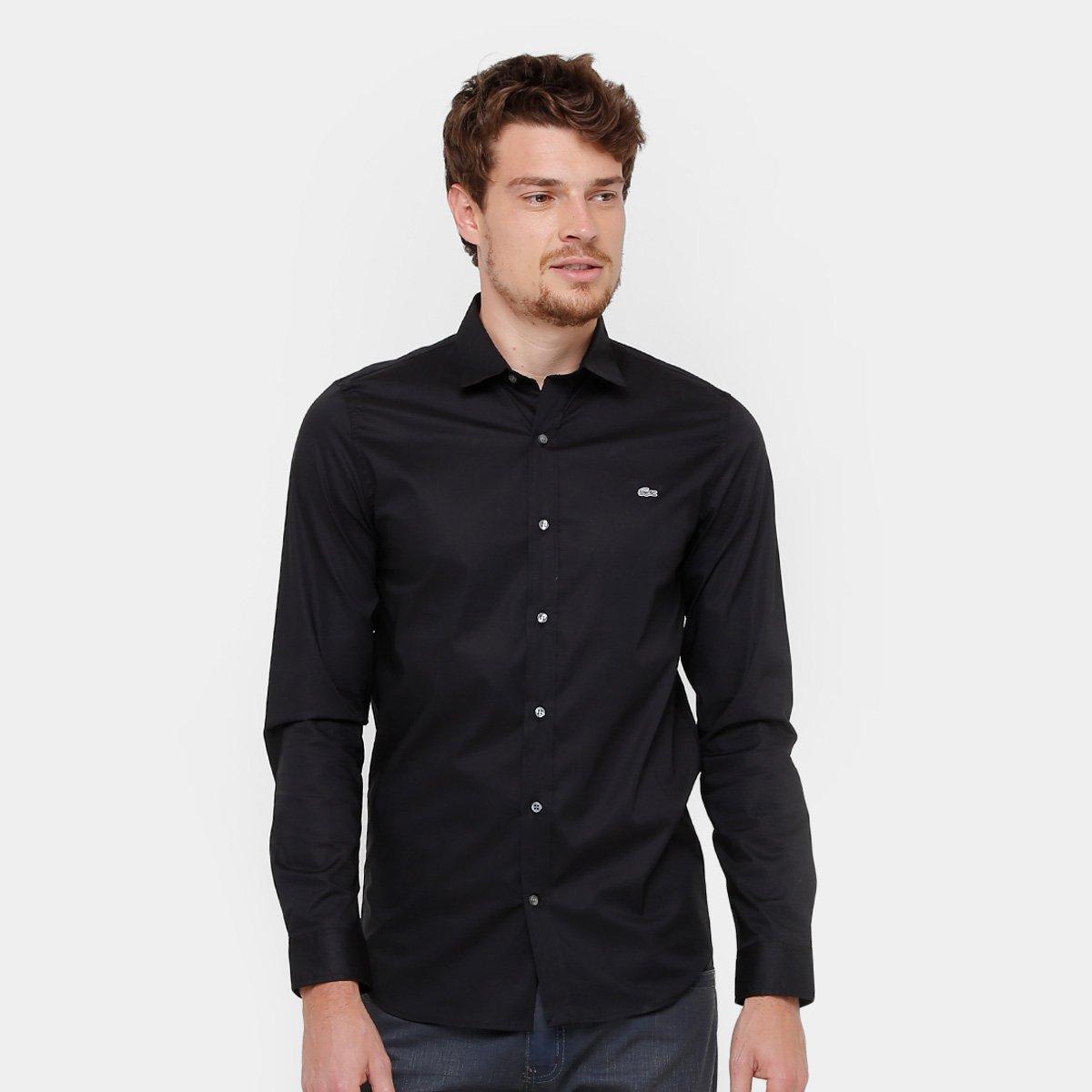10ec344431f26 Camisa Social Lacoste Slim Fit Lisa Masculina - Compre Agora   Zattini
