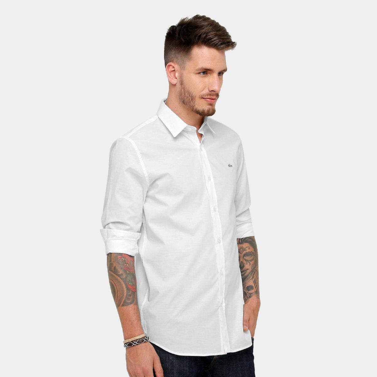 11e5f4def2cb6 Camisa Social Lacoste Slim Fit Lisa Masculina - Compre Agora   Zattini