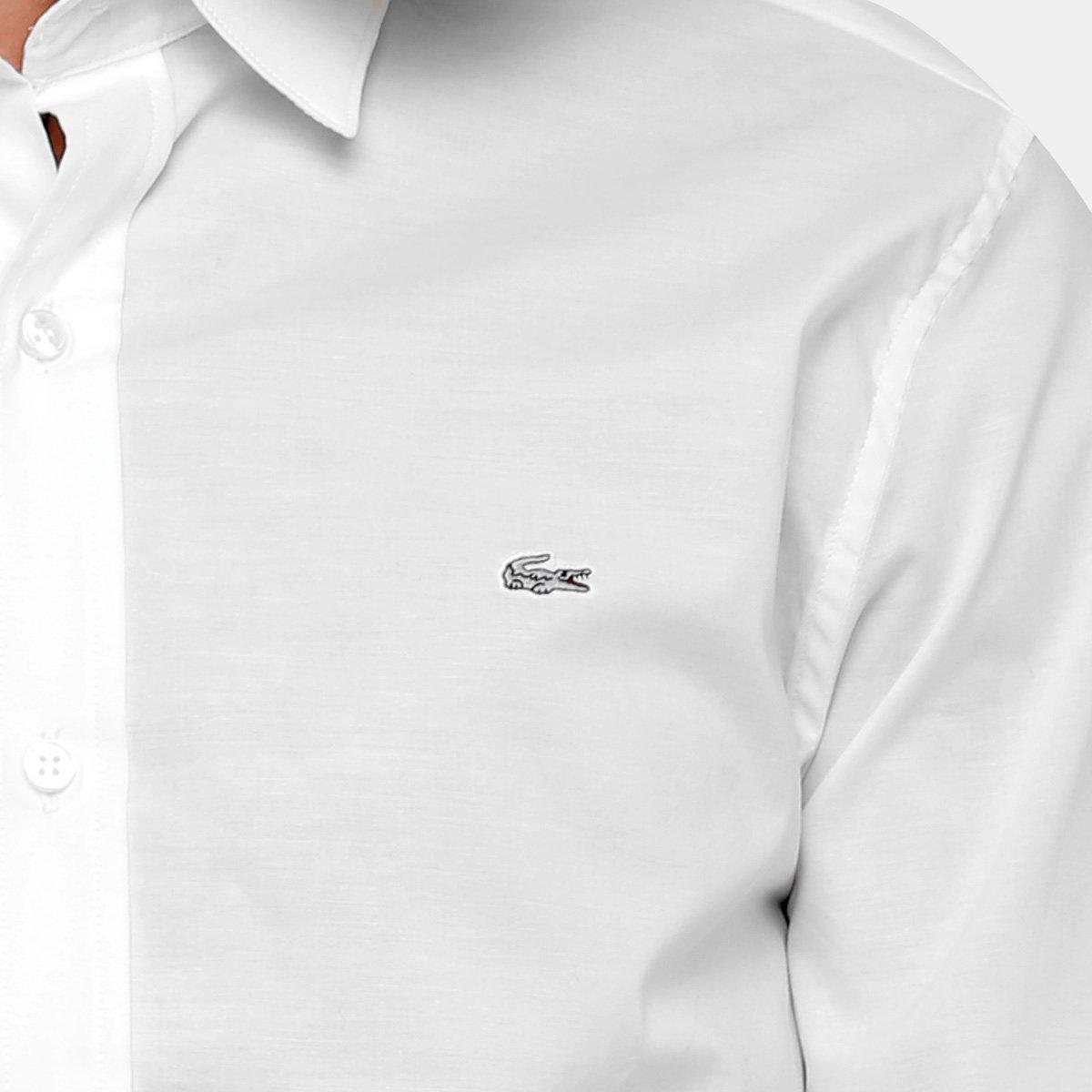 Camisa Social Lacoste Slim Fit Lisa Masculina - Compre Agora   Zattini 4095f54c26