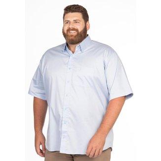 Camisa Social Longford Manga Curta Fio 80 Plus Size
