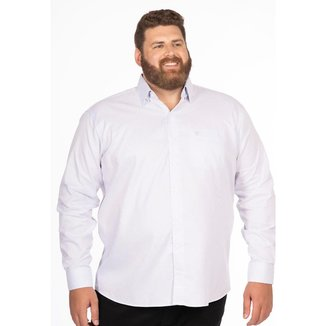 Camisa Social Longford Manga Longa Fio 80 Plus Size