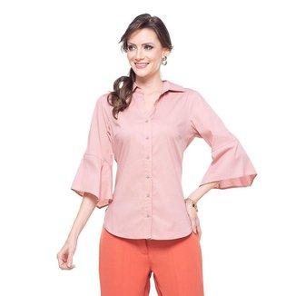 Camisa Social manga flare Rosê