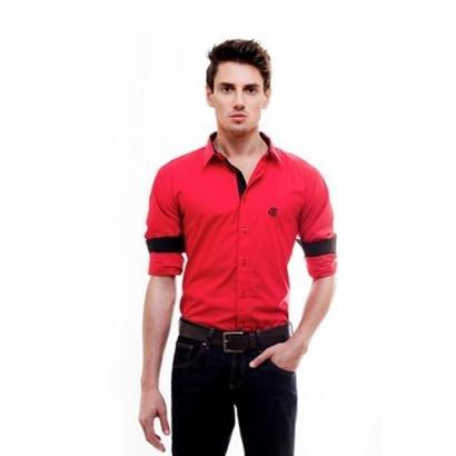 Camisa Social Oficial Flamengo Hat Trick Masculina