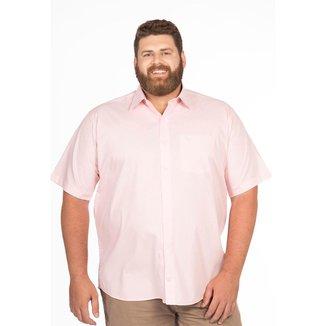 Camisa Social Plus Size Longford Manga Curta Fio 80 Masculina
