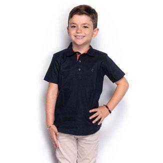 Camisa Social Slim Infantil Menino Lisa Manga Longa Casual