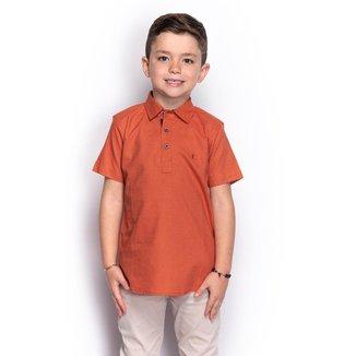 Camisa Social Slim Juvenil Menino Lisa Manga Longa Casual