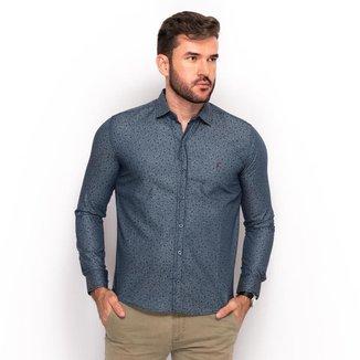 Camisa Social Teodoro Jeans Masculina Estampada Slim Festa