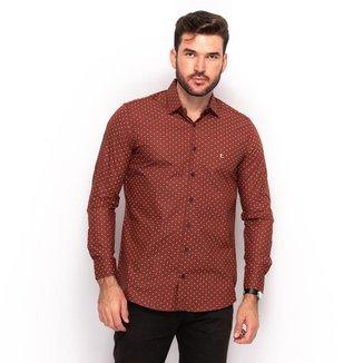 Camisa Social Teodoro Masculina Estampada Slim Festa