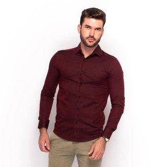 Camisa Social Teodoro Masculino Slim Festa Conforto
