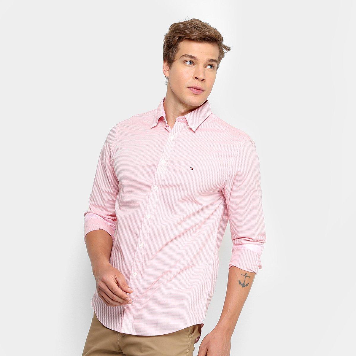 Camisa social tommy hilfiger manga longa lisa masculina compre jpg  1200x1200 Blusa estilo social 5262e77604425