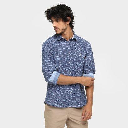 Imagem de Camisa Triton Slim Fit Waves Detalhes Internos