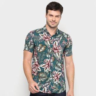 Camisa Watkins & Krown Tropical Manga Curta Masculina