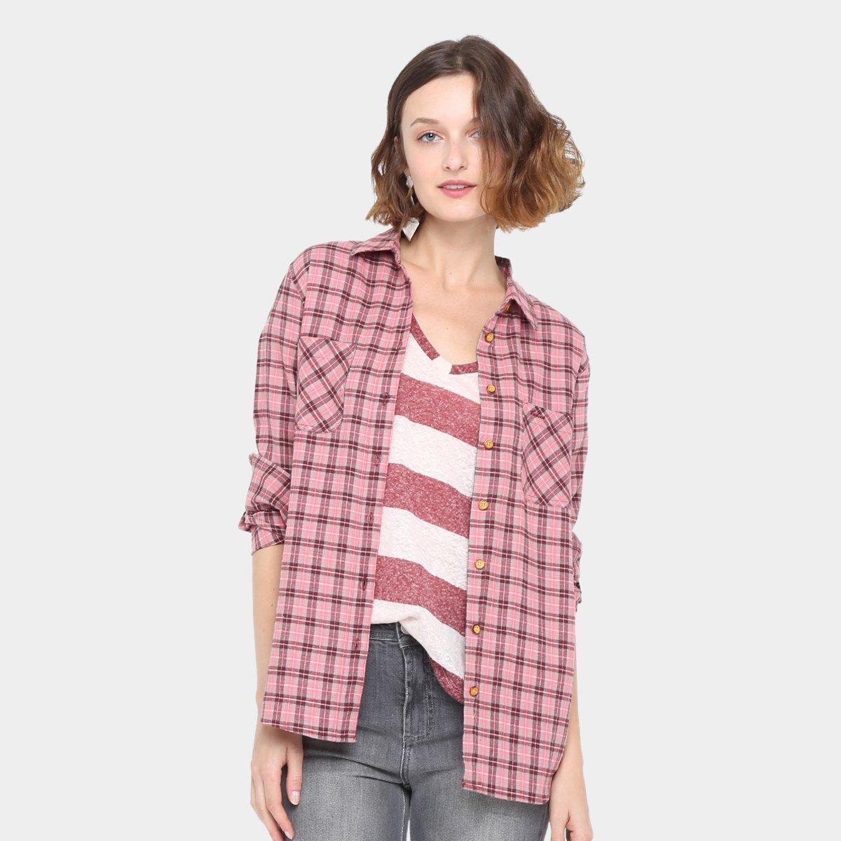 Camisa Xadrez Colcci Bord Feminina - Compre Agora  6b622a0c92ce5