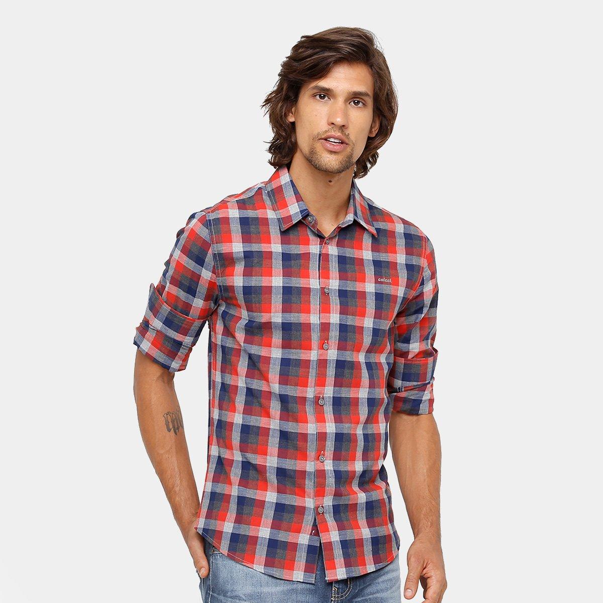 Camisa Xadrez Colcci Manga Longa Masculina - Compre Agora  e6d423dfec3c2