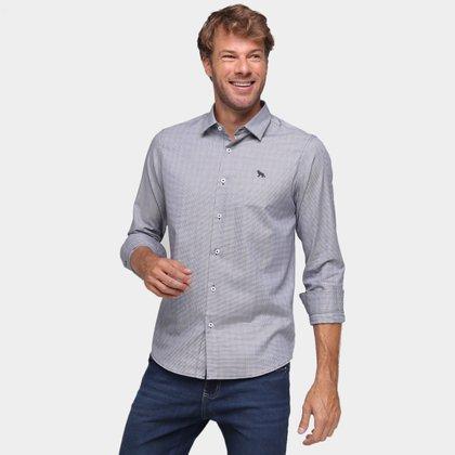 Camisa Xadrez Manga Longa Acostamento Masculina