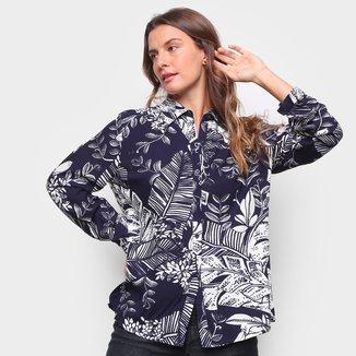 Camisa Yilang Estampada Manga Longa Feminina