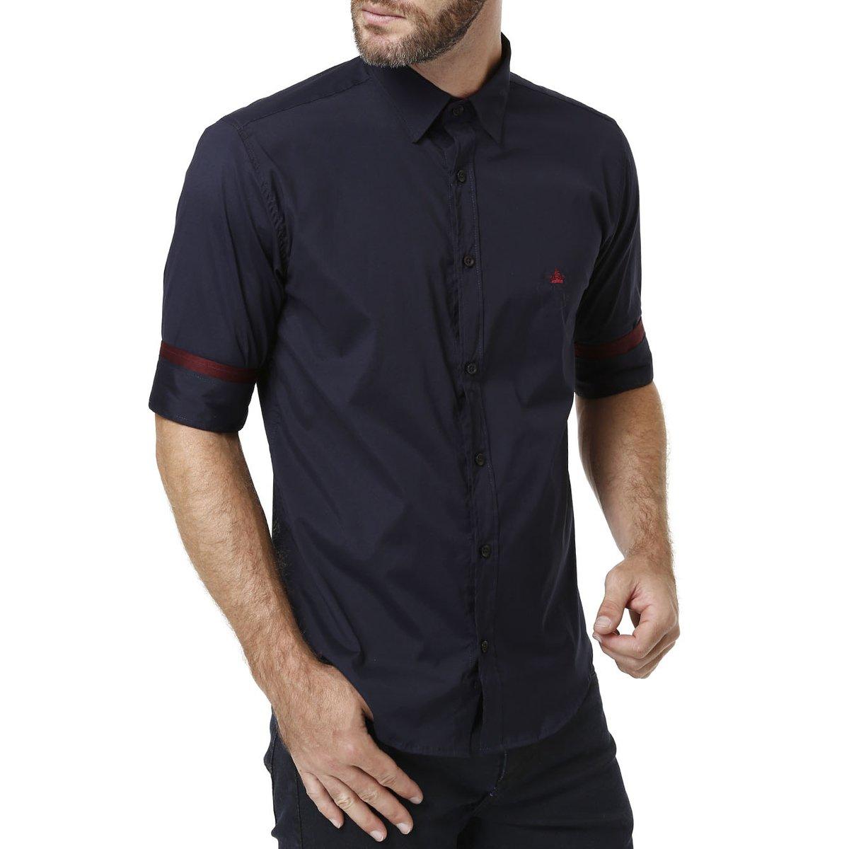 Camisas Manga 3 4 Masculina Azul - Compre Agora  d54cab694ab7f