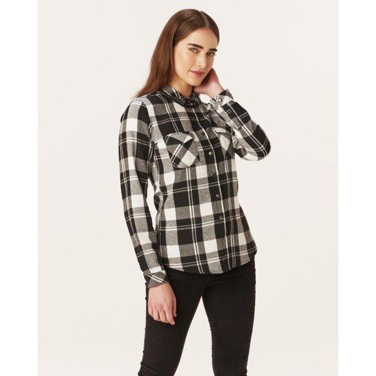 Camisas Xadrez Flanela Malwee Feminina - Preto