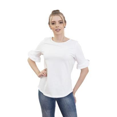 Camiseta 4 Ás Manga Curta Romântica Feminina
