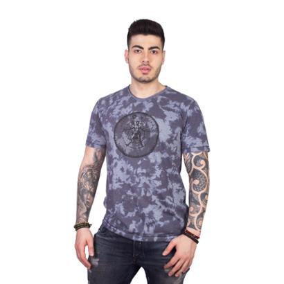 Camiseta 4 Ás Manga Curta Vitruviano Tie Dye Masculina