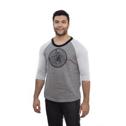 Camiseta 4 Ás Manga Raglan 3/4 Vitruviano Masculina