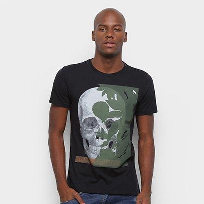 Camiseta Acostamento Caveira Masculina