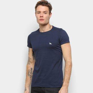 Camiseta Acostamento Estampa Nas Costas Manga Curta Masculina