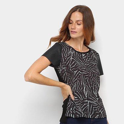 Camiseta Acostamento Estampada Feminina