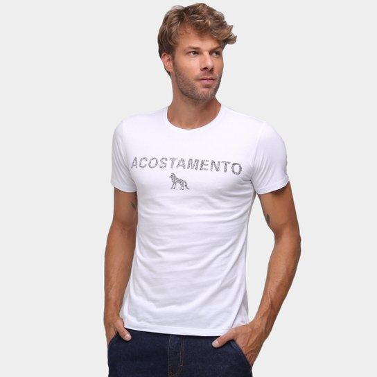 Camiseta Acostamento Estampada Masculina - Branco