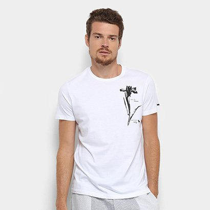 Camiseta Acostamento Flor Masculina