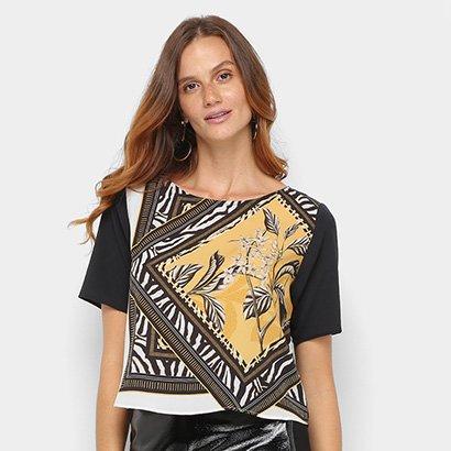 Camiseta Acostamento Floral Feminina