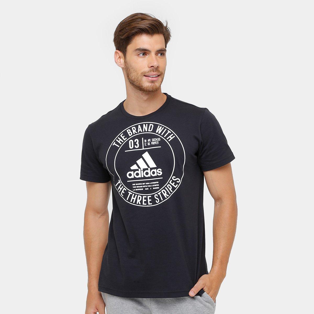 23b1f0e5e99c4 Camiseta Adidas Badge Masculina - Preto - Compre Agora