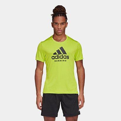 Camiseta Adidas Badge Of Sport GFX Masculina Masculino-Amarelo