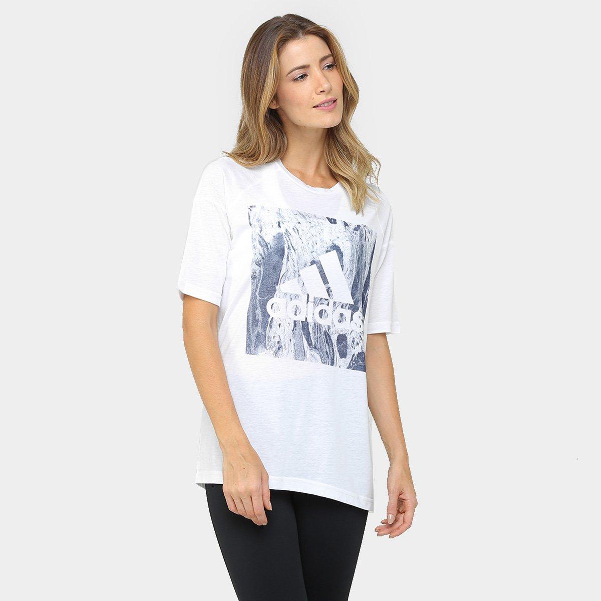 1c354fd0a07 Camiseta Adidas Boxy Sport ID Feminina - Compre Agora