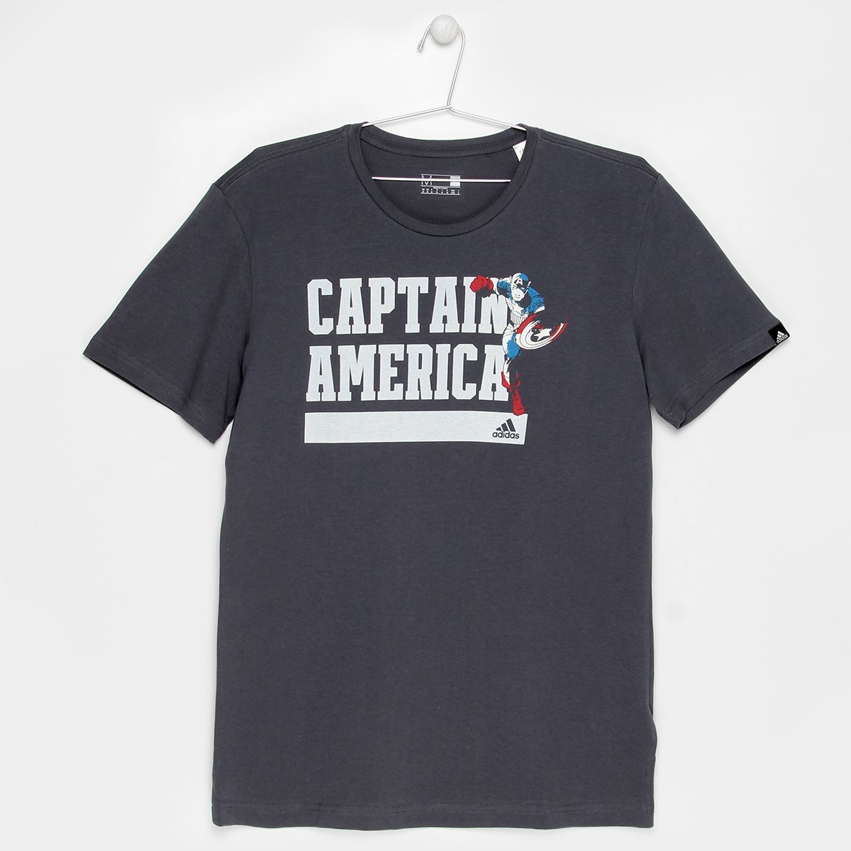Camiseta Adidas Capitão America Infantil - Chumbo - Compre Agora ... 2797f538b1a34