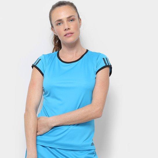 Camiseta Adidas Club 3S Tee Masculina - Azul Piscina+Azul Claro