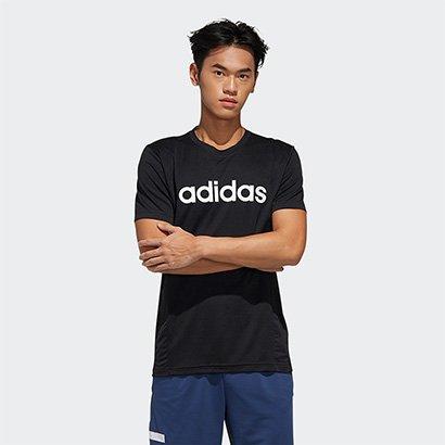 Camiseta Adidas D2M Ca Logo Masculina Masculino-Preto+Branco