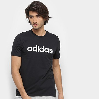 Camiseta Adidas Grfx Lnr T 3 Masculina Masculino-Preto