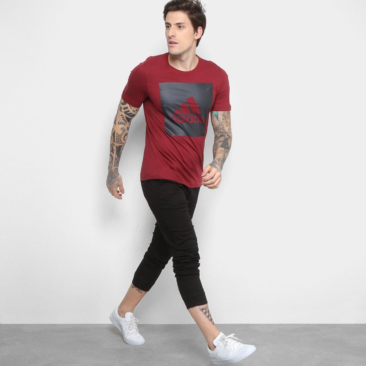 6c76a83f5e Camiseta Adidas Manga Curta Masculina - Compre Agora