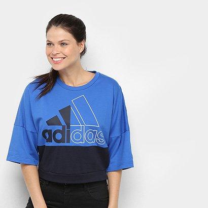 Camiseta Adidas Must Haves Colorblock Crew Feminina