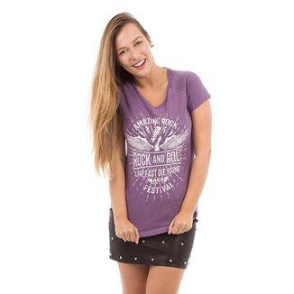 Camiseta AES 1975 Amazing Rock Feminina