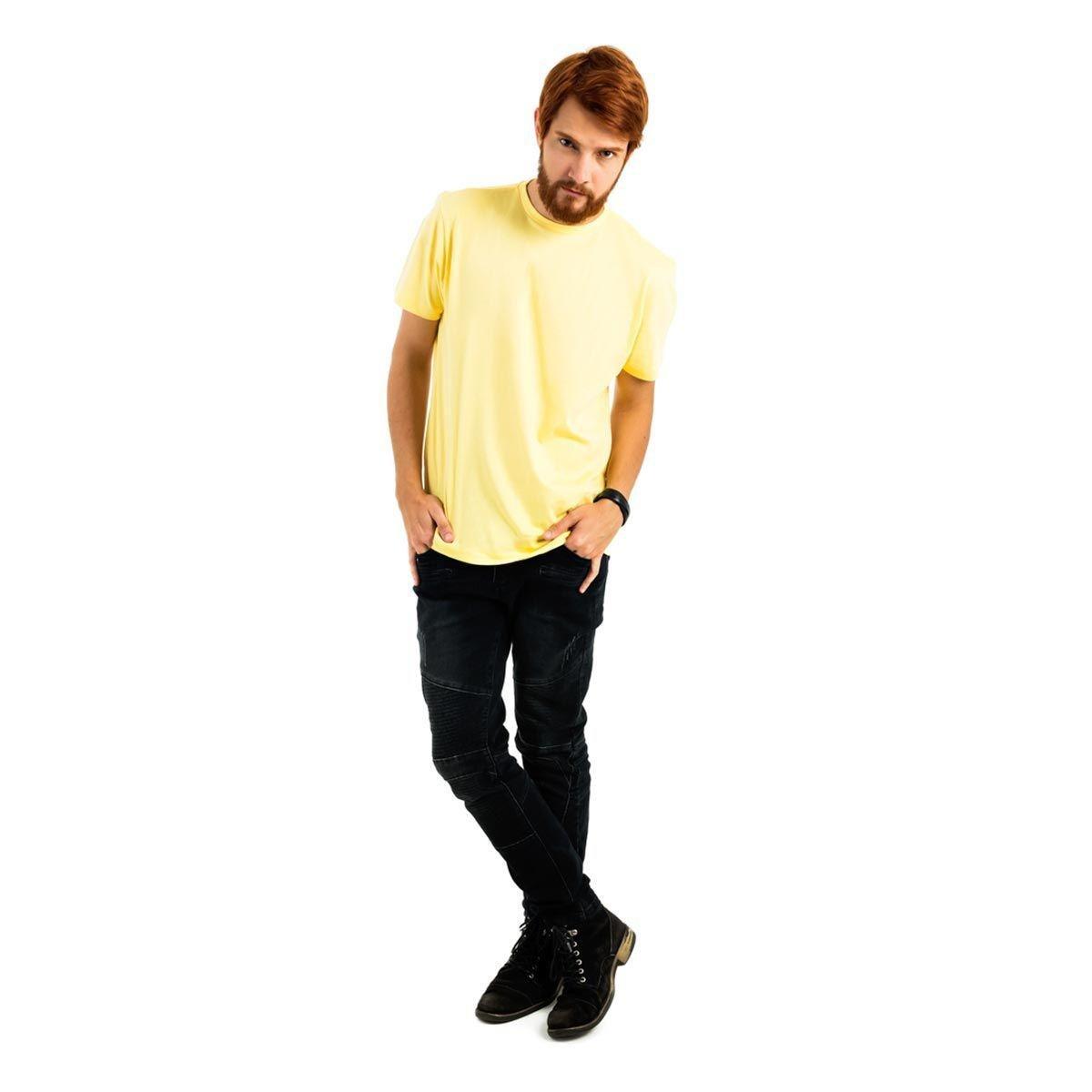 Camiseta AES 1975 Básica Masculina - Amarelo