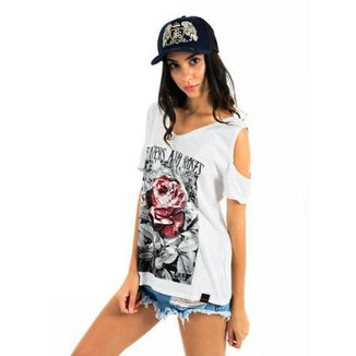 Camiseta AES 1975 Flowers and Roses Feminina